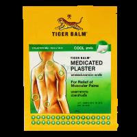 Охлаждающий и обезболивающий тигровый пластырь 10*14 см/ Tiger Balm Medicated Plaster Cool / 2шт
