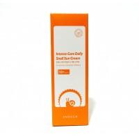 Корейский  улиточный солнцезащитный крем для лица  SPF50 PA+++  Intense Care Daily Snail Sun Cream  Enough 70 г