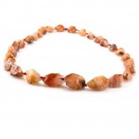 Колье из натуральных камней, оранжевое