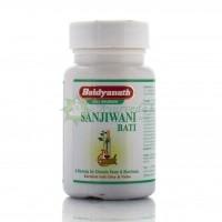 Сандживани вати (бати) Sanjivani bati -препятствует развитию инфекций и вирусов в организме, Байдинах, Baidyanath, 80 таб.