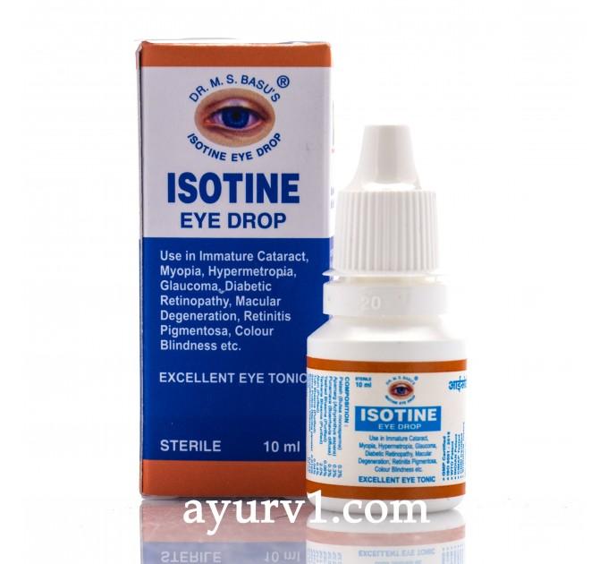 Айзотин капли глазные / Isotone eye drops / 10 мл