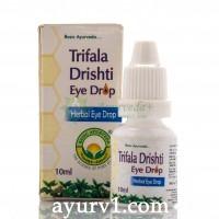 Капли для глаз Трифала дришти / Trifala Drishti Eye Drop / 10 мл