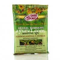 Ашвагандха чурна в порошке - при стрессах и бессоннице, Шри Ганга, Ashavagandha Churna, Shri Ganga, Индия, 100 г