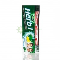 Зубная паста Хербал, мята и лимон / Dabur Herb'l Mint & lemon / 150 г + зубная щетка