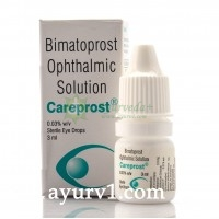 Биматопрост офтальмологический раствор Карепрост, Bimatoprost ophthalmic solution careprost, 3 мл