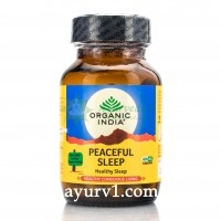 Писфул слип- здоровый и глубокий сон, Peaceful Sleep Organic India, 60 кап.