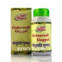 Гокшуради гуггул Шри Ганга / Goksuradi guggal, Shri Ganga / 100 г- 280 таб