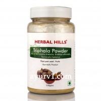 Трифала порошок - нормализация обменных процессов в организме, Triphala, Herbal Hills / 100 г