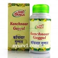Канчнар гуггул /Kanchnar Guggul, Shri Ganga / 100 г.- 280 таб.
