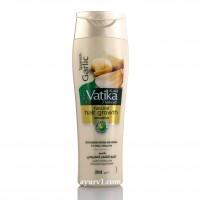 Шампунь Ватика  с чесноком, для роста волос / DABUR VATIKA  GARLIC SHAMPOO / 200 мл