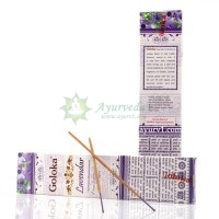 Аромапалочки / Благовония индийские пыльцовые Голока Лаванда Goloka / 15 гр