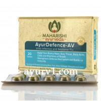 AyurDefence-AV- отдышка, вирус, лихорадка Maharisha Ayurveda 20 таб