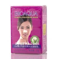 Маски от черных точек для носа с алоэ bioaqua remove blackhead mask, 22 г