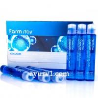 Увлажняющий филлер с коллагеном для волос,Collagen Water Full Moist Treatment Hair Filler, Farm stay 13 мл
