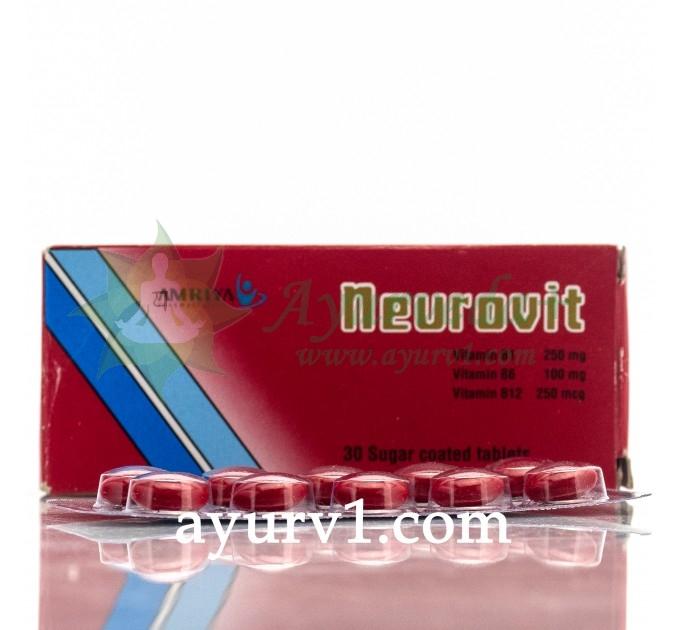 Неуровит, Neurovit анальгетик с витаминами В1, В6 и В12, Amriyl,  Египет, 30 таб