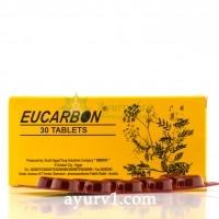 Эукарбон — натуральное,  мягкое слабительное с активированным углем   Египет Eucarbon  Sedico 30 таб.
