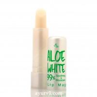 Помада-бальзам меняющая цвет,  для губ Aloe Vera White 99% / Корея /  3.2 гр