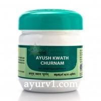 Чай от простуды, гриппа, вируса от кашля Ayush Kwath Churnam, Kottakkal 100 г