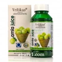 Сок амлы, иммуномодулирующее, стимулирующее и укрепляющее средство, Vritikas amla juice, 500мл