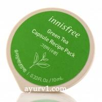 Капсульный рецепт Innisfree в зеленом чае, capsule recipe pack in green tea, 10 мл