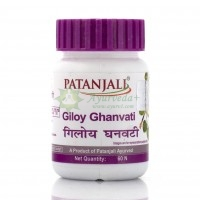 Препарат* для иммунной системы Гилой Гхан Вати / Giloy Ghan vati Patanjali 60 таб.