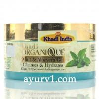 Гель для  лица с мятой и алое вера / Face gel with Mint and Aloe vera, Khadi / 100 г