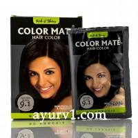 Хна для волос, черная, на натуральной основе Колор Мате, Color Mate, Natural Black 9.1 / 15 гр