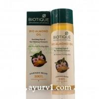 """Bio Almond (Био Миндаль) Успокаивающее масло для очистки лица и снятия макияжа """"Biotique"""" 120 мл"""