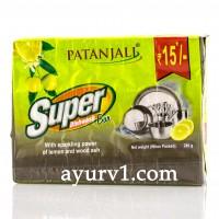 Мыло для мытья посуды Super Dishwash Bar (с лимоном и золой) Patanjali 280г.