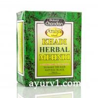 Натуральная краска для волос на основе хны (цвет черный) / Khadi, Herbal Mehndi, Black / 100 гр
