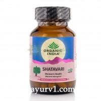 Шатавари, Органик Индия / Shatavari, Organic India / 60 кап.