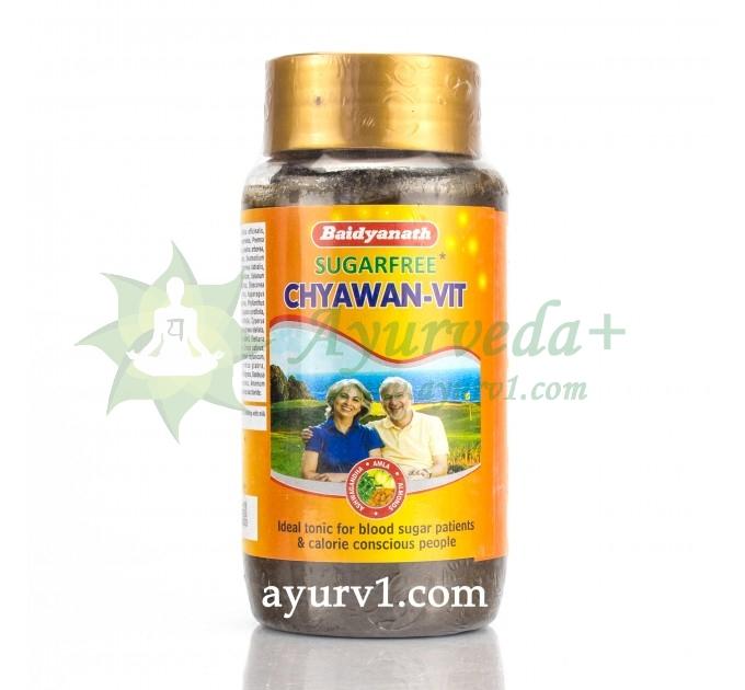 Чаванпраш Чван-Вит без сахара с шафраном, миндалём и ашвагандхой, Бадьянатх, Baidyanath CHYAWAN-VIT Sugar Free 500 г