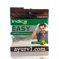 Натуральная краска для волос 10- минутка, Индика  темно-коричневая/ Indica easy hair color, Dark brown 3 /  18 мл