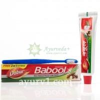 Зубная паста Бабул с гвоздикой+щетка, Дабур / Toothpaste Babool, Dabur / 90 г