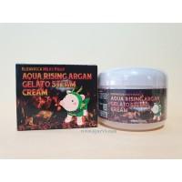Питательный крем для лица с аргановым маслом Elizavecca Aqua Rising Argan Gelato Steam Cream / 100 g