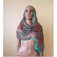 Супер легкий шелковый, индийский шарф