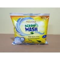 Натуральный гипоаллергенный стиральный порошок с Нимом и Лимоном Патанджали Patanjali 0.5 кг.
