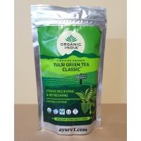 Классический зеленый чай Тулси, Туласи, Органик Индия, Tulsi Green Tea Classic, Organic India,  100 г