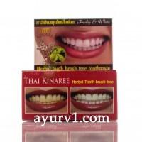 Тайская отбеливающая зубная паста Thai Kinaree Brush Tree Toothpaste с Каллистемоном, 25 г