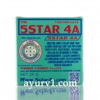 Знаменитая тайская зубная паста 5 STAR 4A / 25 г