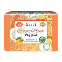 Мыло с запахом имбиря и манго, Khadi, Индия, 125 г