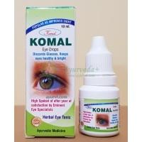 Комал - глазные капли с трифалой и пунарнавой / Komal Eye Drops Homeopathic Ayurvedic Herbal / 10 мл