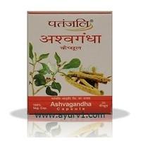 Ашвагандха, Ашвагандра капсулы , Ashvagandha, Patanjali,  20 кап.