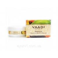 Крем для лица и тела Papaya /  Vaadi Herbals / 90 г