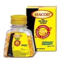 Масло печени трески, Cod Liver oil Seacod 110 кап