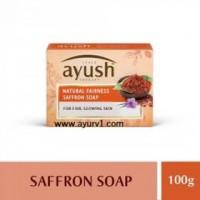 "Натуральное мыло ""Шафран"" с Kumkumadi Tailam / Natural Fairness Safron Soap, Ayush / 100 г"