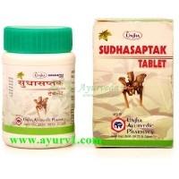 Cудхасаптак-это фито-минеральный препарат для устранения проблем связанных с дефицитом кальция/  Sudhasaptak, Unjha / 100 tab