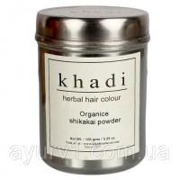 Шикакай порошок, Кхади -Прекрасно смывает масло, обеспечивает легкий и мягкий пилинг кожи, предотвращает преждевременную седину, устраняет перхоть, препятствует выпадению, способствует росту. Практиче